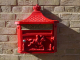 Wall Mounted Post Box - Red