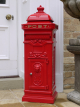 Free Standing Post Box - Red