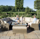 Winchester Royal U Shaped Sofa Set with Rising Table and ice bucket