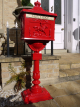 Post Mounted Post Box - Red