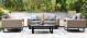 Outdoor fabric Ethos 2 Seat sofa set - Taupe