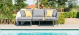Outdoor fabric Pulse Chaise sofa set - Flanelle Due 19/7/21