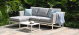 Outdoor fabric Pulse Chaise sofa set - Lead Chine Due 19/7/21