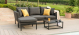 Outdoor fabric Pulse Chaise sofa set - Charcoal Due 28/6/21