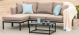 Outdoor fabric Pulse Chaise sofa set - Taupe