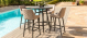 Outdoor fabric Regal 4 seat round bar set - Taupe Due 9/8/21