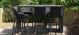 Outdoor fabric Regal 6 seat Rectangular Dining Set - Charcoal Due 21/6/21