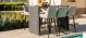 Outdoor fabric Regal 6 seat Rectangular Dining Set - Taupe Due 21/6/21