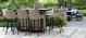 Outdoor fabric Regal 8 seat Rectangular Fire Pit bar Set - Taupe Due 2/8/21