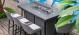 Outdoor fabric Regal 8 seat Rectangular Fire Pit bar Set - Flanelle Due 14/6/21
