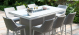 Outdoor fabric Regal 8 seat Rectangular Fire Pit bar Set - Lead Chine Due 14/6/21