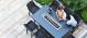 Outdoor fabric Regal 8 seat Rectangular Fire Pit bar Set - Charcoal Due 14/6/21