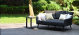 Outdoor fabric Ark Daybed - Charcoal Due 2/8/21