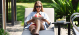 Outdoor fabric Allure Sunlounger - Flanelle Due 2/8/21