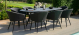 Outdoor fabric Ambition 8 Seat Oval Dining Set - Charcoal