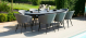 Outdoor fabric Ambition 8 Seat Oval Dining Set - Flanelle