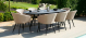 Outdoor fabric Ambition 8 Seat Oval Dining Set - Taupe Due 2/9/21
