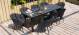 Outdoor fabric Ambition 8 Seat Rectangular Dining Set with Fire pit - Charcoal Due 16/9/21