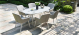 Outdoor fabric Zest 6 seat oval dining set - Lead Chine Due 30/6/21