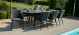 Outdoor fabric Zest 8 seat oval dining set - Charcoal Due 30/6/21