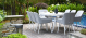 Outdoor fabric Zest 8 seat oval dining set - Lead Chine