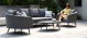 Outdoor fabric Ambition 3 Seat sofa Set - Flanelle