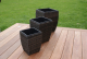 Shaped Rattan Planters - Brown