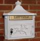 Wall Mounted Post Box - White