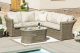 Winchester Small corner Sofa set with Firepit