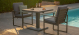 Amalfi 3 Piece Bistro Set with Rising Table - Grey