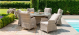 Cotswold Reclining 6 Seat Round Dining Set with Lazy susan