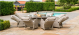 Cotswold Reclining 8 Seat Round Dining Set with Lazy