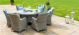 Oxford 6 Seat Round Ice Bucket Dining Set Venice chairs