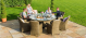 Winchester 8 Seat Round Dining Set with Venice Chairs and Ice Bucket