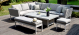 Outdoor fabric Pulse Rectangular Corner Dining Set with Rising Table - Lead Chine