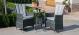LA 2 Seat Bistro Dining Set- Grey