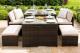 Lyon sofa Dining set - Brown