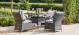 Texas 4 Seat Square Dining Set - Grey