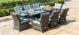 Texas 8 Seat Rectangular Dining Set with Ice Bucket - Grey