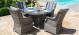 Victoria 4 Seat Round Dining Set