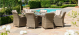 Winchester 8 Seat Oval Fire Pit Dining Set Venice Chairs