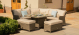 Winchester Royal Corner Dining Set with Firepit Table