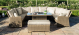 Winchester Royal U Shaped Sofa Set with Fire Pit
