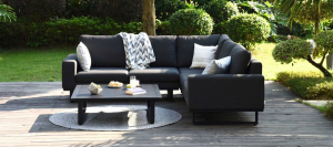 Outdoor fabric Ethos Corner Group - Charcoal Due 23/8/21