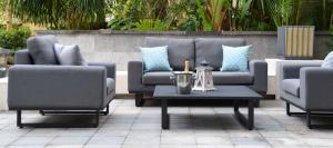 Outdoor fabric Ethos 2 Seat sofa set - Flanelle Due 19/7/21