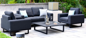 Outdoor fabric Ethos 2 Seat sofa set - Charcoal Due 19/7/21